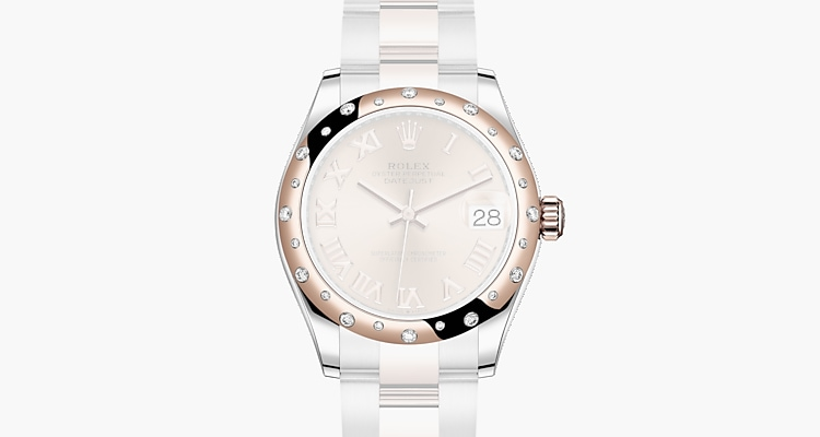 Oyster, 31 mm, Oystersteel, Everose gold and diamonds