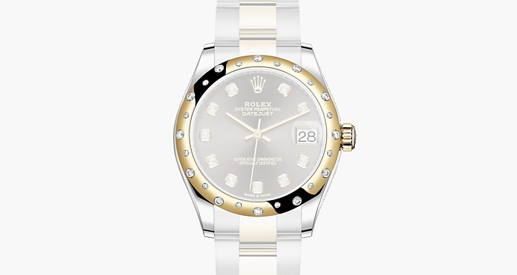 Oyster, 31 mm, Oystersteel, yellow gold and diamonds