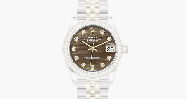 In madreperla nera con diamanti