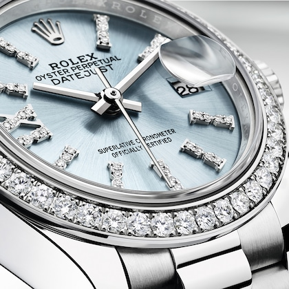 Часовое мастерство, циферблат, серебристо-голубой, Lady-Datejust