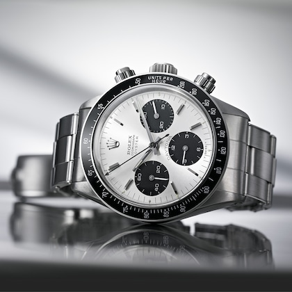 1965 – Cosmograph Daytona Screw-down pushers and black tachymetric bezel in Plexiglas