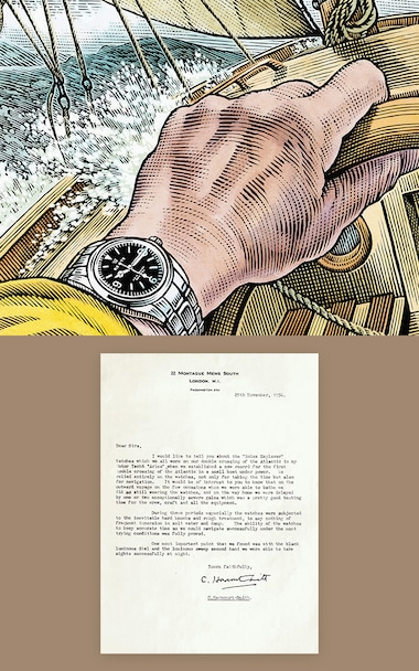 ERTAS Briefe an Rolex C. Harcourt Smith